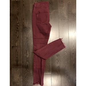 Express Dark Red Jeans